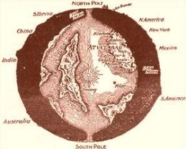 The interior world from The Goddess of Atvatabar (1892). Image within the public domain.