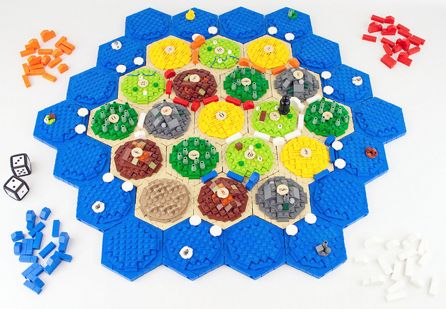 Settlers of Catan foregrounds analytic complexity, relies on player uncertainty and randomness. Photo CC eldeeem @Flickr