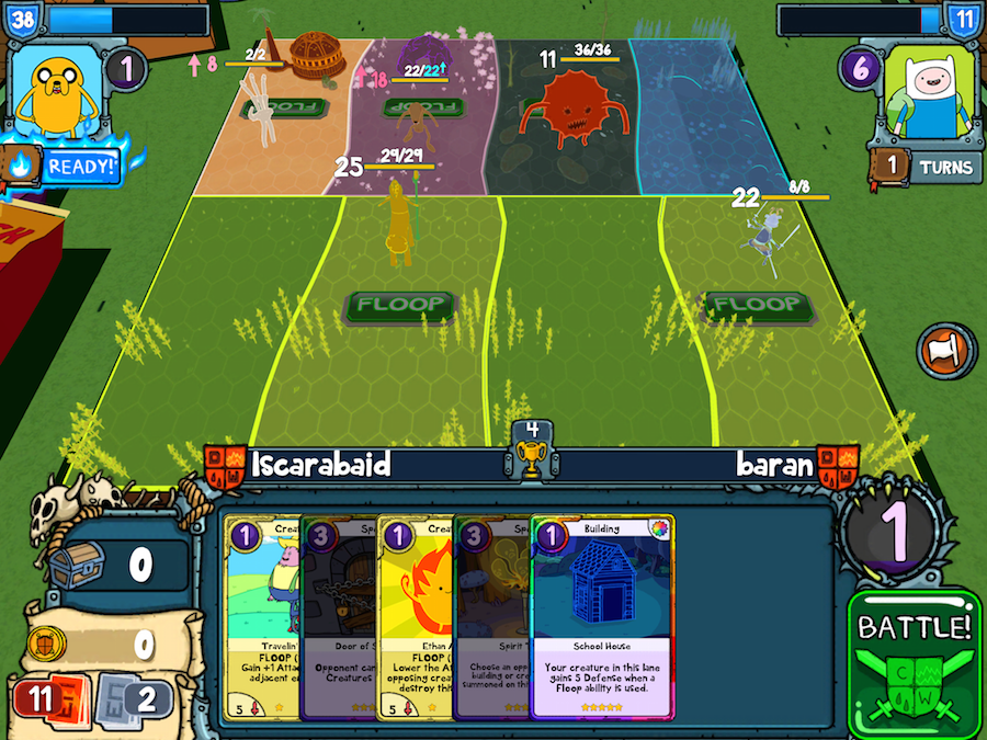 Adventure Time Card Wars uses digital cards as a platform for constrained commodity exchange. Image used with permission by the author.