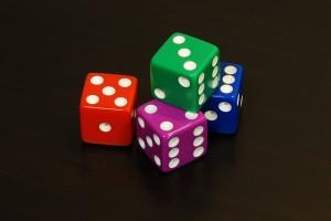 """Pick a die. Any die. """"6 sided dice"""" by Pablo Ruiz Múzquiz @Flickr."""