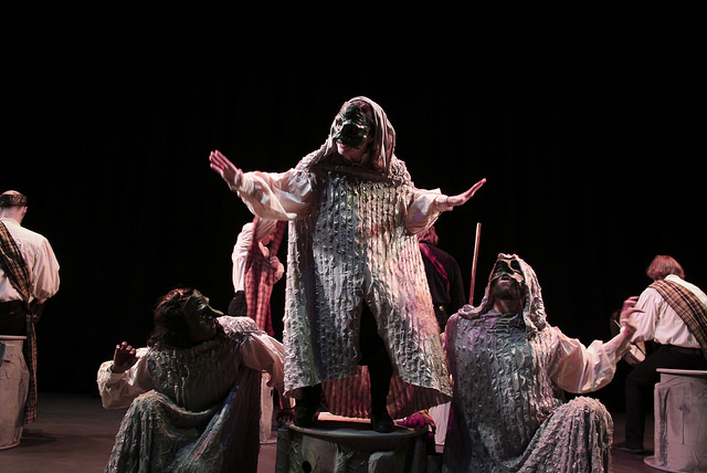 Performance of Macbeth by KY Shakespeare. Photo by Holly Stone on Flickr. No changes were made to the image.