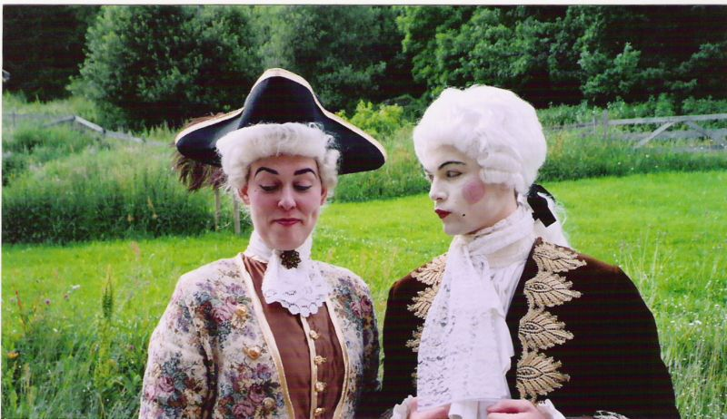 "Giæver (right) playing a baron at the ""Kjærlighet uten strømper"" larp from 2004. Photo by Helene Johnsen"
