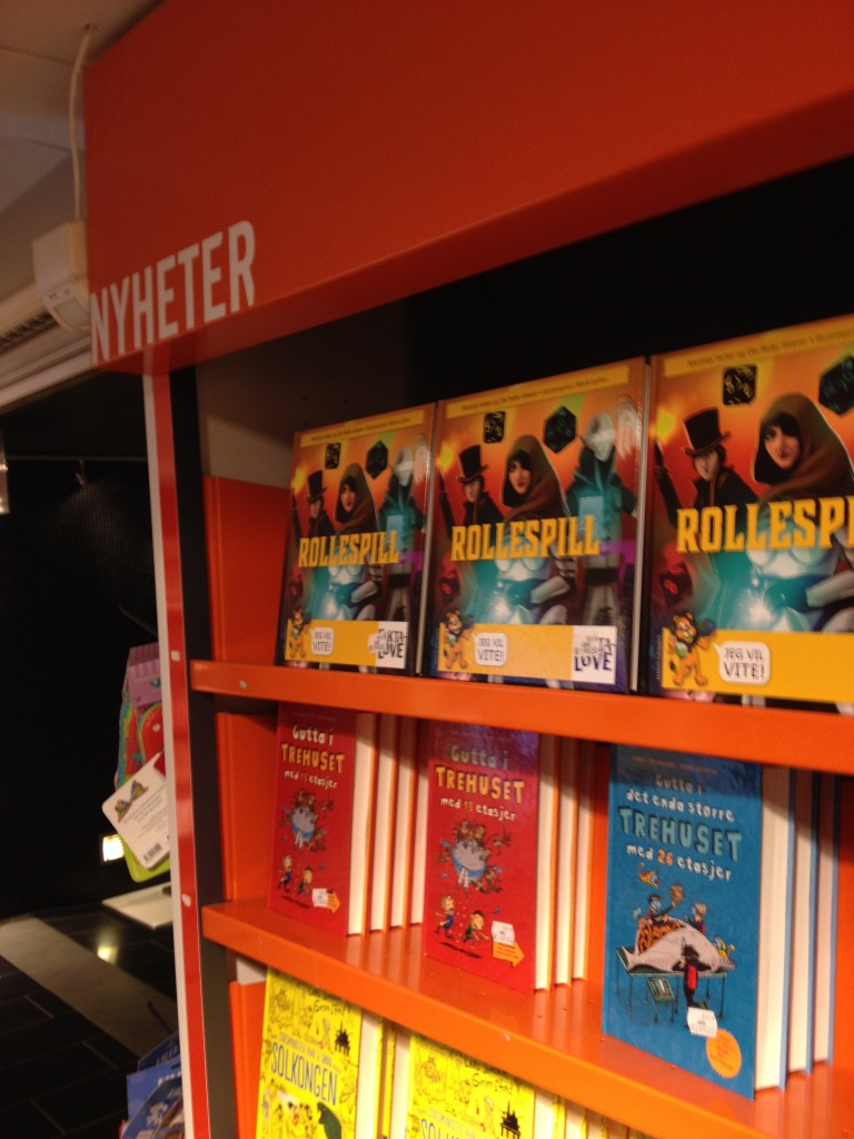 The Rollespill children's book on shelves everywhere. Cover design by Marie Lyshol. Photo by Ole Peder Giæver
