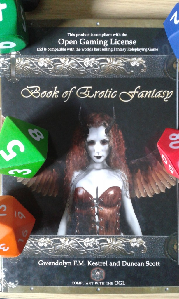 Supplementary gaming rulebook and dice. Used with permission of the author.