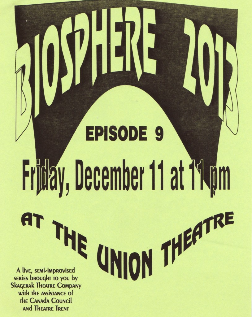Original poster for Biosphere 2013. Image provided by the author.