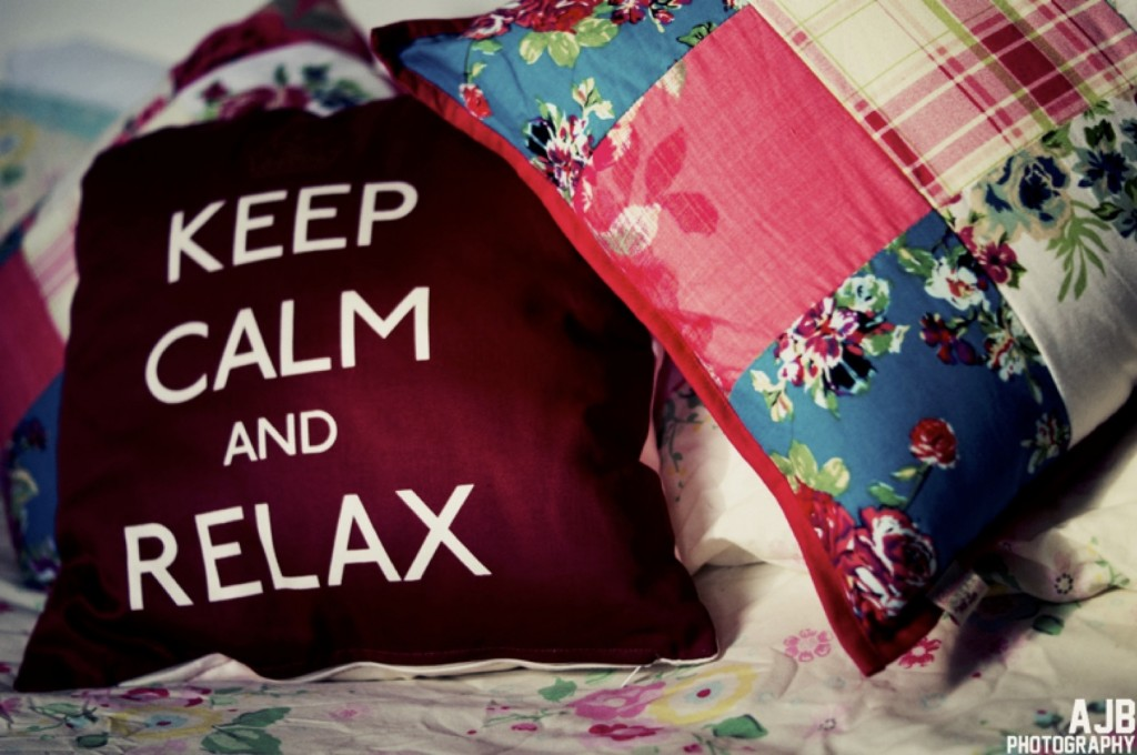 A performative utterance displayed on a pillow. Image by thebarrowboy on flickr, CC BY 2.0.