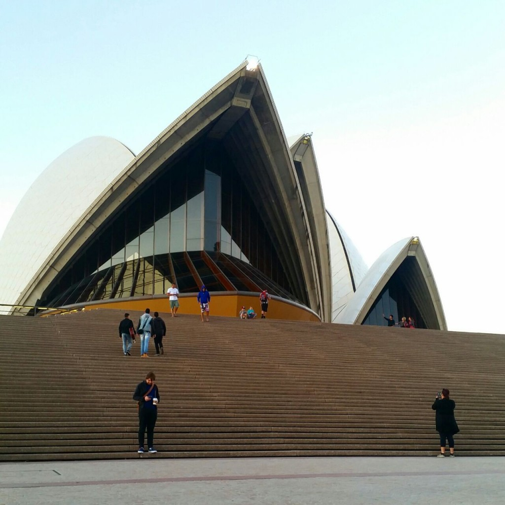 Engaging with portals at Sydney Opera House. Photo by Connie Wang, and used with permission of the author.