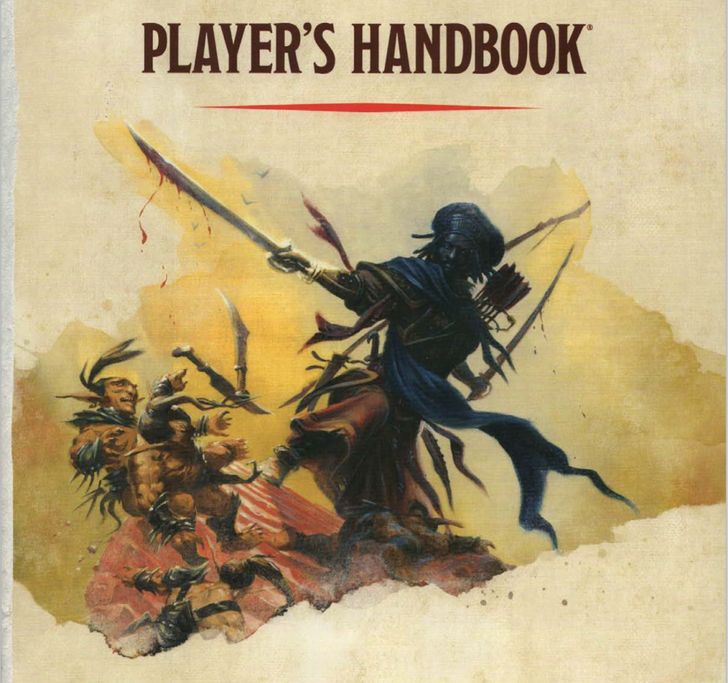 Image used for purposes of critique. Taken from the 5th edition Dungeons & Dragons players handbook.