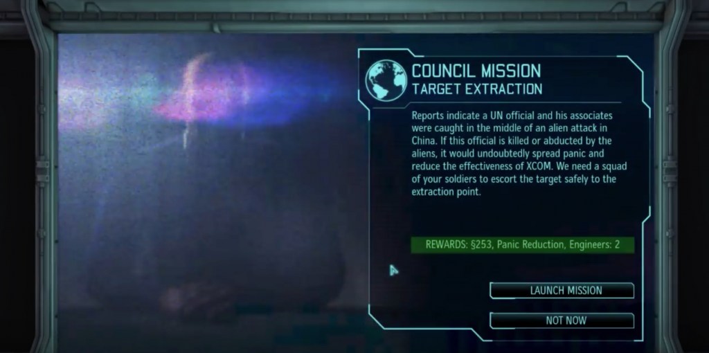 A mission given to the Commander. Image used for purposes of critique.