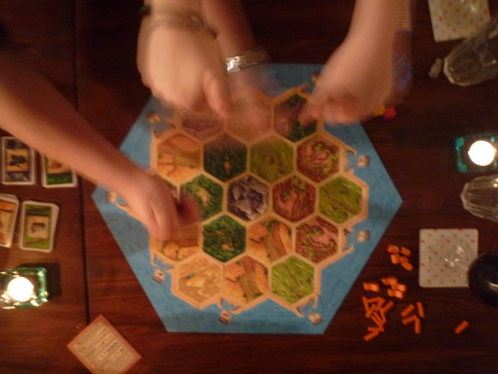 """2009-01-16 Settlers of Catan Gets Played!"" by Pat Scullion on Flickr, CC BY-NC-ND."