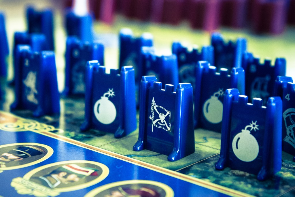 "Bomb and flag pieces in Stratego. ""Capture the Flag"" by Derek Bruff on Flickr, CC BY-NC."