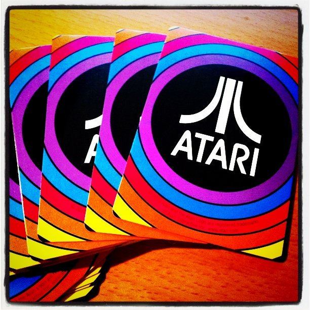 A rare set of Atari playing cards. Image by Kimili @Flickr CC BY-NC.