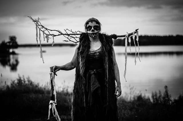 The responsibility for culture creation lay mostly with the organizers, although players had input in Landsväg (Country Road). Pictured here is a gast (ghoul), a superstition come to life. Photo by Johannes Axner.