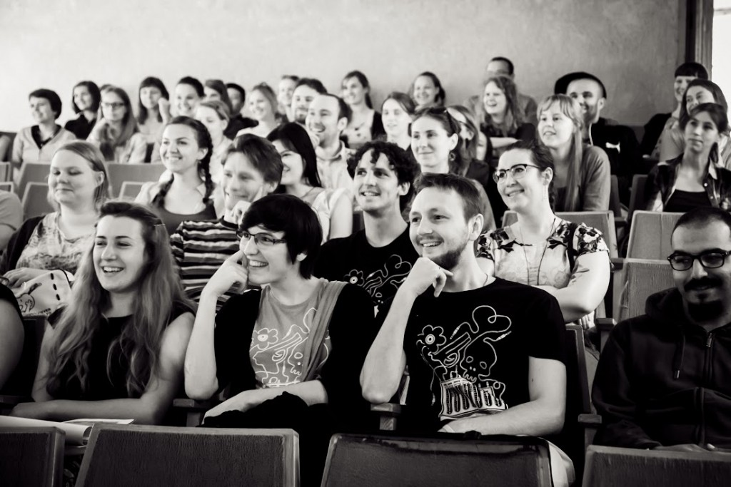 Students listening to a lecture at LWSS 2015. Photo by Anatoly Kazakov.