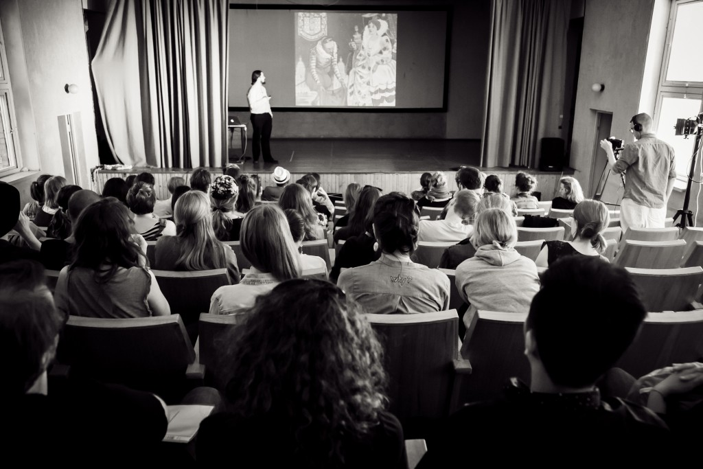 A lecture at the Larpwriter Summer School 2015. Photo by Anatoly Kazakov.
