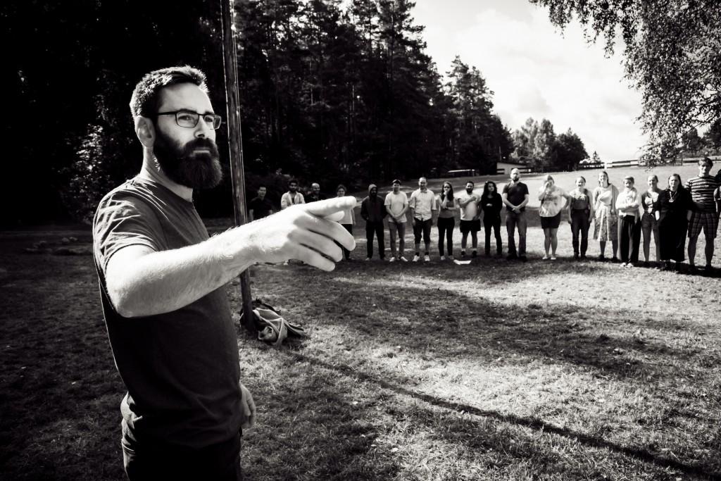 Kristoffer Thurøe leads a workshop at LWSS 2015. Photo by Anatoly Kazakov.