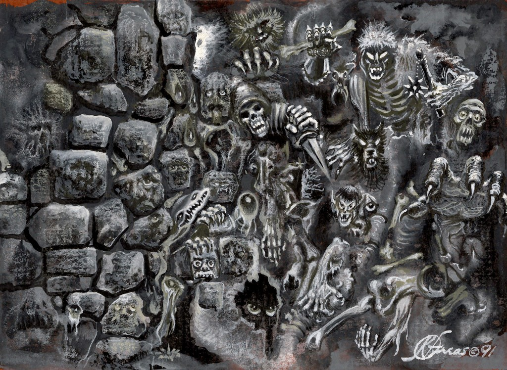 """Ravenloft - The Living Wall, 1991 by Frank Kelly Freas"" Image by Tom Simpson CC BY-NC-ND."
