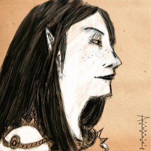 An illustration of a character in Pathfinder. Image by Andrea Alemanno CC BY-ND.