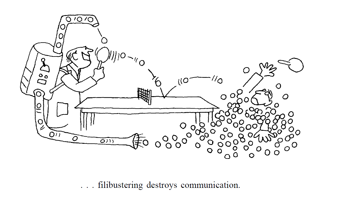 Licklider-Fillibustering Destroys Comm