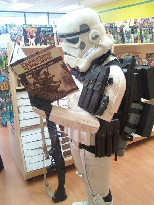 "The Authoritarian Game Master. ""Even Stormtrooper enjoy D&D"" by heath_bar @Flickr CC BY-NC-ND."