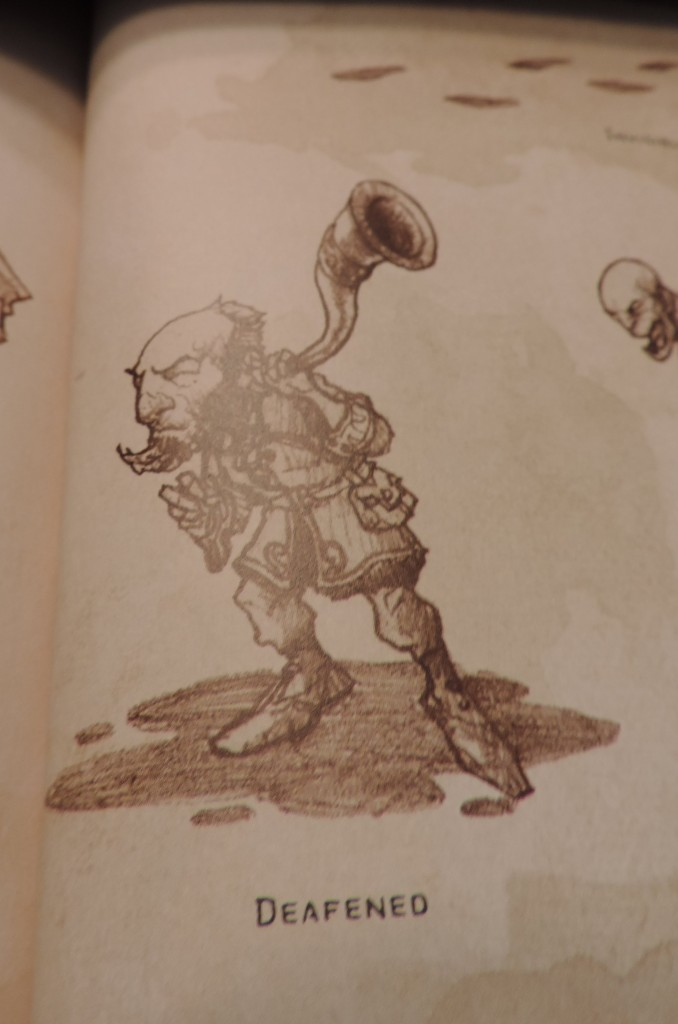A clichéd image of a man with a horn in his ear. Image of the PHB taken by the author.