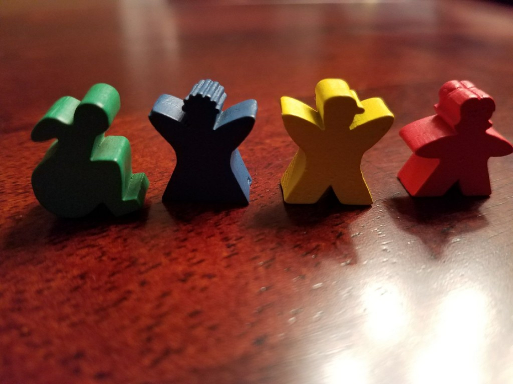 Meeples that acknowledge a diversity of bodies. Image used with permission by the author.