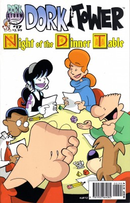 "The Cover of ""Dork Tower"" #17--a parody of the Dungeons & Dragons themed ""Knights of the Dinner Table"" comic. Image by mlhradio @Flickr CC BY-NC."