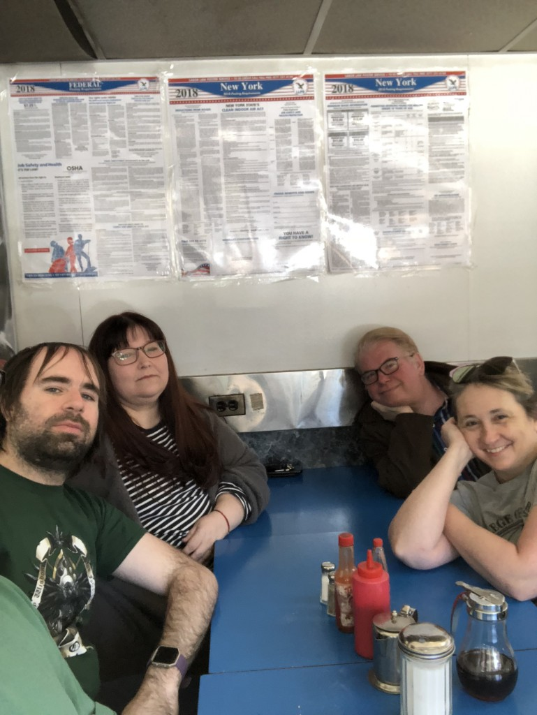 Dead Dog party after Beat Generation larp, Spring 2018. Photo licensed from Learn Larp, LLC