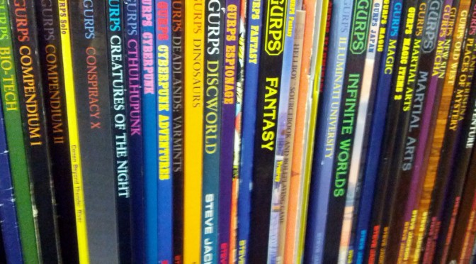GURPS, Merrill Collection Stacks, Toronto, Ontario, Canada. Image by Cory Doctorow @Flickr CC BY-NC-ND
