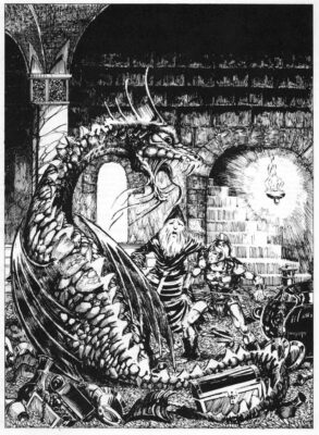 """Illustration by Chris Baker """"Fangorn"""" for the Fiend Folio (1980) Image by Tom Simpson @Flickr CC BY-NC 2.0"""